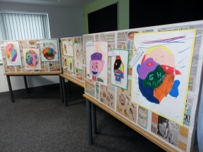 We made an exhibition of all our work