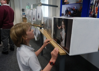 Images of all the children were displayed, peers loved looking